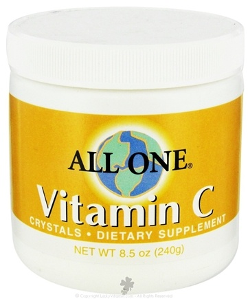 DROPPED: All One - Vitamin C Crystals - 8.5 oz. CLEARANCE PRICED