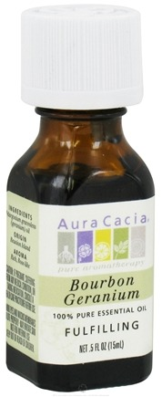 DROPPED: Aura Cacia - Essential Oil Fulfilling Bourbon Geranium - 0.5 oz.