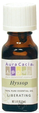DROPPED: Aura Cacia - Essential Oil Liberating Hyssop - 0.5 oz. CLEARANCE PRICED
