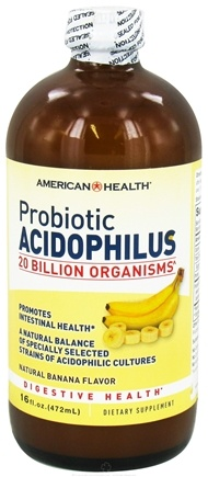 DROPPED: American Health - Probiotic Acidophilus Natural Banana Flavor - 16 oz. CLEARANCE PRICED
