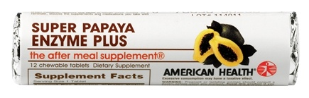 DROPPED: American Health - Super Papaya Enzyme Plus - 12 Chewable Tablets