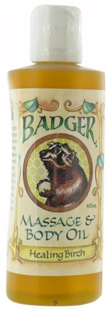 DROPPED: Badger - Massage and Body Oil Healing Birch - 4 oz.