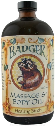 DROPPED: Badger - Healing Birch Massage Oil (Glass Bottle) - 32 Oz.