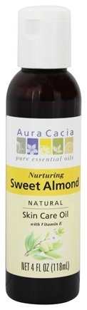 Aura Cacia - Natural Skin Care Oil Sweet Almond - 4 oz.