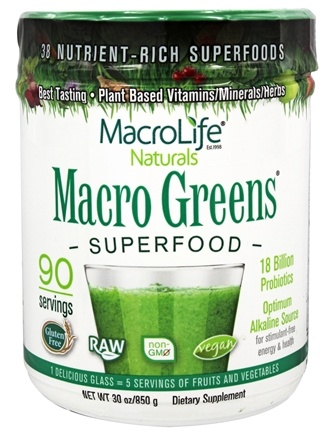 MacroLife Naturals - Macro Greens Superfood - 30 oz.