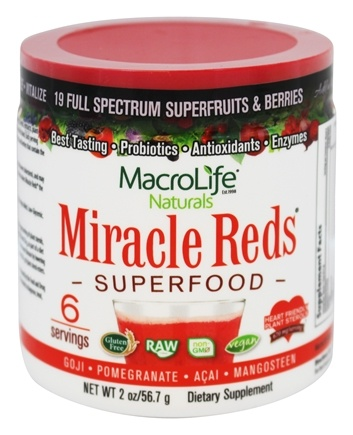 MacroLife Naturals - Miracle Reds Antioxidant Super Food - 2 oz.