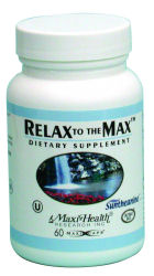 DROPPED: Maxi-Health Research Kosher Vitamins - Relax to the Max - 60 Capsules