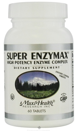 DROPPED: Maxi-Health Research Kosher Vitamins - Super Enzymax - 60 Tablets