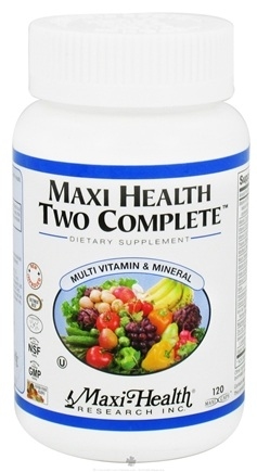 DROPPED: Maxi-Health Research Kosher Vitamins - Two Complete Two-A-Day Multi-Vitamin Without Iodine - 120 Capsules CLEARANCE PRICED