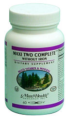 DROPPED: Maxi-Health Research Kosher Vitamins - Two Complete Two-A-Day Multi-Vitamin Without Iron - 120 Capsules