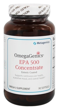 Metagenics - OmegaGenics EPA 500 Concentrate - 90 Softgels (formerly EPA-DHA 6:1 Enteric Coated)