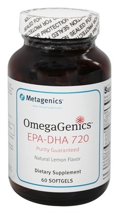 Metagenics - OmegaGenics EPA-DHA 720 Natural Lemon Flavor - 60 Softgels (formerly EPA-DHA 720)