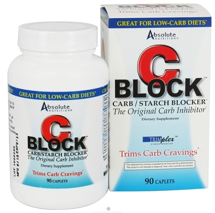 DROPPED: Absolute Nutrition - C-Block Carb & Starch Blocker - 90 Tablets Contains White Kidney Bean Extract