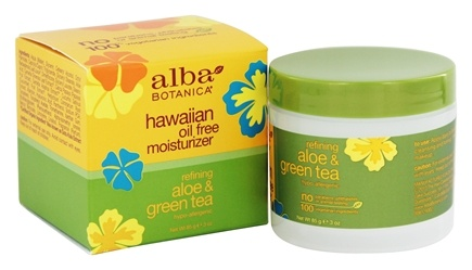 Alba Botanica - Alba Hawaiian Oil-Free Moisturizer Aloe & Green Tea - 2.5 oz.