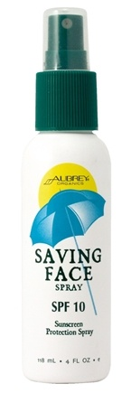 DROPPED: Aubrey Organics - Saving Face Sunscreen Spray 10 SPF - 4 oz.