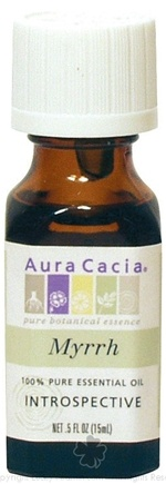 DROPPED: Aura Cacia - Essential Oil Myrrh (Commiphora Molmo) - 0.5 oz.