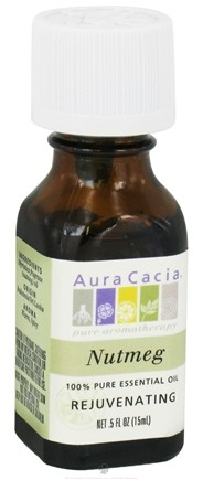 DROPPED: Aura Cacia - Essential Oil Rejuvenating Nutmeg - 0.5 oz. CLEARANCE PRICED
