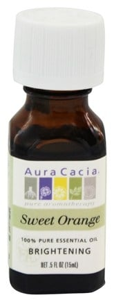 Aura Cacia - Essential Oil Brightening Sweet Orange - 0.5 oz.