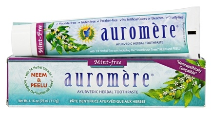 Auromere - Ayurvedic Herbal Toothpaste Mint-Free - 4.16 oz.
