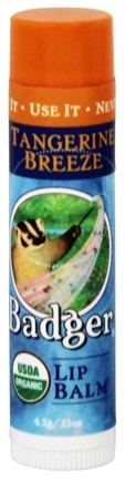 Badger - Lip Balm Stick Tangerine Breeze - 0.15 oz.