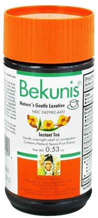 DROPPED: Bekunis - Nature's Gentle Laxative Instant Tea - 0.53 oz. CLEARANCE PRICED