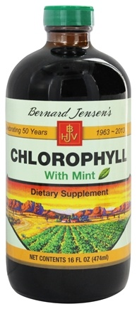 Bernard Jensen - Chlorophyll Liquid with Mint 70 mg. - 16 oz.