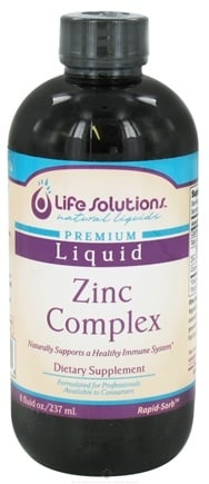 DROPPED: Life Solutions - Liquid Zinc Complex - 8 oz. CLEARANCE PRICED