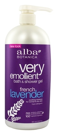 Alba Botanica - Very Emollient Bath & Shower Gel French Lavender - 32 oz.