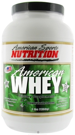 DROPPED: American Sports Nutrition - Extreme American Whey Creamy Vanilla - 3 lbs.