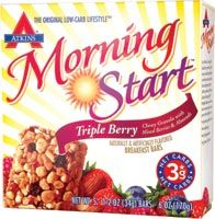 DROPPED: Atkins Nutritionals Inc. - Atkins Morning Start Breakfast Bar Triple Berry - 5 Bars