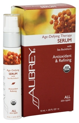 Aubrey Organics - Age-Defying Therapy Serum with Sea Buckthorn - 0.33 oz. (Formerly Sea Buckthorn with Ester-C Rejuvenating Antioxidant Serum - 0.36 oz.)