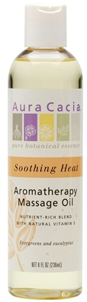 DROPPED: Aura Cacia - Massage & Body Oil Soothing Heat - 8 oz.