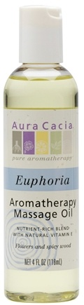 DROPPED: Aura Cacia - Aromatherapy Massage Oil Euphoria - 4 oz. CLEARANCE PRICED