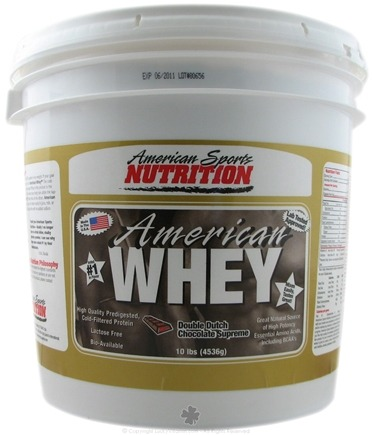 DROPPED: American Sports Nutrition - American Whey Double Chocolate - 10 lbs.