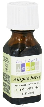 DROPPED: Aura Cacia - Essential Oil Comforting Allspice Berry - 0.5 oz. CLEARANCE PRICED