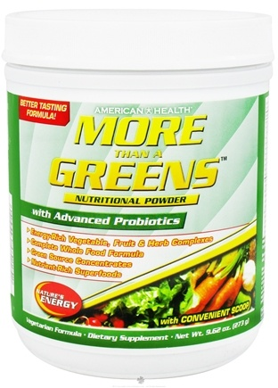 DROPPED: American Health - More Than A Greens Nutritional Powder with Advanced Probiotic Formula - 9.24 oz. CLEARANCE PRICED