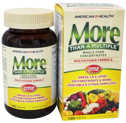 American Health - More Than A Multiple Whole Food Concentrates - 120 Tablets