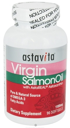 DROPPED: Astavita - Virgin Salmon Oil with AstaReal Astaxanthin - 90 Capsules