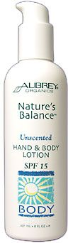DROPPED: Aubrey Organics - Nature's Balance Unscented Hand & Body Lotion 15 Spf - 8 oz.