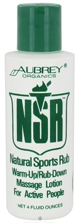 DROPPED: Aubrey Organics - NSR Natural Sports Rub - 4 oz. CLEARANCE PRICED