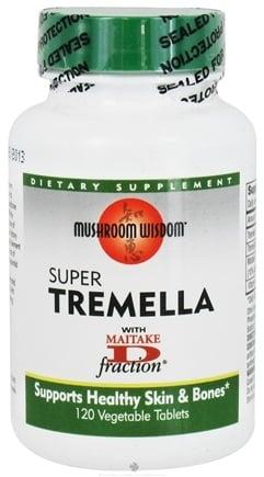 DROPPED: Mushroom Wisdom - Super Tremella with Maitake D Fraction - 120 Vegetarian Caplet(s) Formerly Maitake Products CLEARANCED PRICED