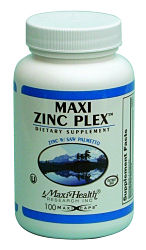 DROPPED: Maxi-Health Research Kosher Vitamins - Kosher Maxi Zinc Plex - 100 Vegetarian Capsules