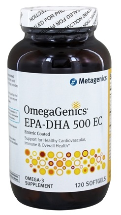 Metagenics - OmegaGenics EPA-DHA 500 - 120 Enteric Coated Softgels (formerly EPA-DHA Extra Strength)