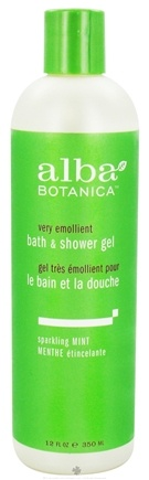 DROPPED: Alba Botanica - Very Emollient Bath & Shower Gel Sparkling Mint - 12 oz. CLEARANCE PRICED