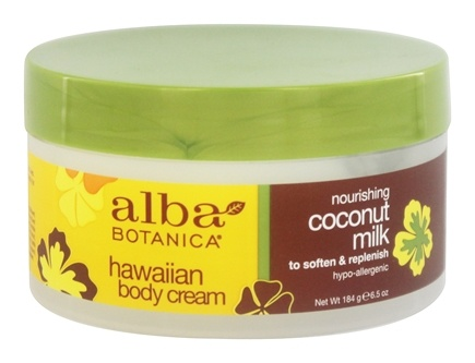 Alba Botanica - Alba Hawaiian Body Cream Coconut Milk - 6.5 oz.