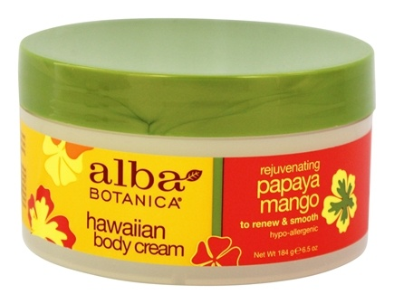 Alba Botanica - Alba Hawaiian Body Cream Papaya Mango - 6.5 oz.