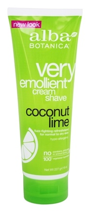 Alba Botanica - Moisturizing Cream Shave Coconut Lime - 8 oz.