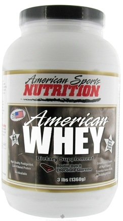DROPPED: American Sports Nutrition - American Whey Double Dutch Chocolate Supreme - 3 lbs.