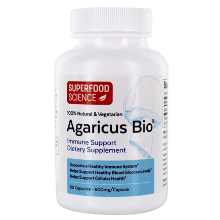 Atlas World - Agaricus Bio Immune Support 600 mg. - 60 Capsules