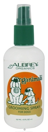 DROPPED: Aubrey Organics - Organimals Grooming Spray For Dogs - 8 oz. CLEARANCE PRICED